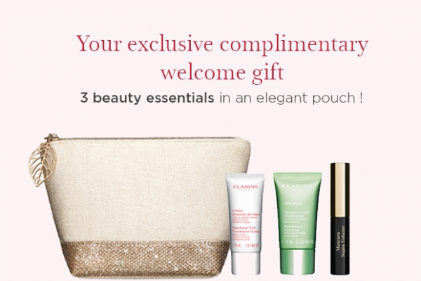 Free Clarins Welcome Gift