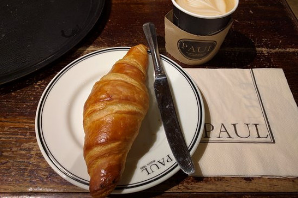 Free Coffee & Croissant at PAUL