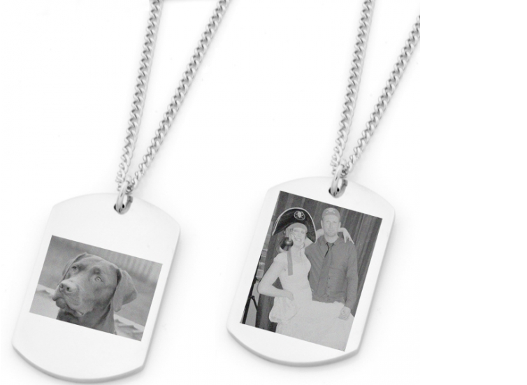 Free Personalised Photo Engraved Pendant